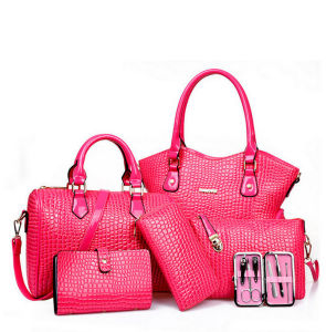 2016 New Collection Designer 6PCS in 1 Large Stock Handbags Set pictures & photos