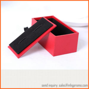 High Quality Black Velvet Cufflink Box for Jewelry and Gifts pictures & photos