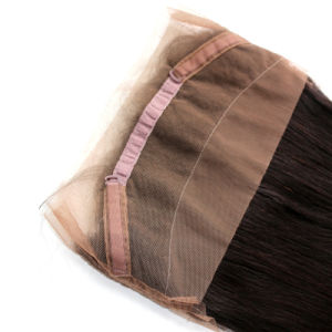360 Lace Frontal Closure Wig Malaysian Human Hair Silky Straght Natural Hairline Lace Band Frontals with Baby Hair pictures & photos