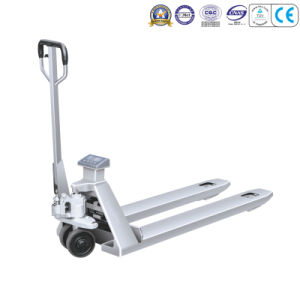 Stainless Scale Pallet Truck-2t pictures & photos