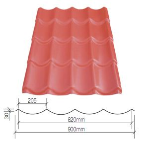 Roofing Material PVC Roof Tile Coated PMMA pictures & photos
