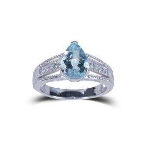The New Ms. Wedding Jewelry Blue Natural Stone 925 Silverrings