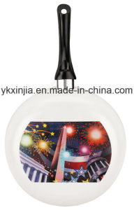 Aluminum Ceramic Non-Stick Laser Printing Fry Pan Cookware (15) pictures & photos