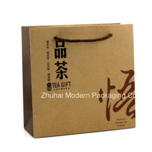 Cheap Price OEM with PP Strings Handle Kraft Paper Bag pictures & photos