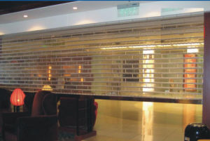Straight Clear Transparent Crystal Roll up Door/Polycarbonate Roll up Door pictures & photos