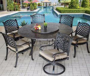 Outdoor Patio Garden Aluminum Furniture 7PCS Nassa Dining Set pictures & photos