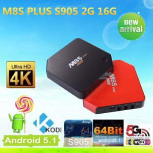 New S905 Quad Core Google Android 5.1 TV Box M8s Plus pictures & photos
