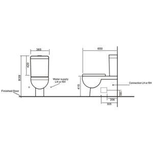 Australia Standard Wc Pan Sanitary Wares Bathroom Ceramic Toilet pictures & photos