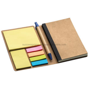 PU Notebook with Sticky Notes in Differnet Colours. pictures & photos