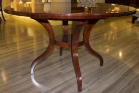 Contemporary Solid Wood Round Dining Table Era