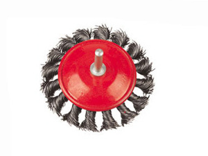 Twisted Knotted Wire Wheel Brush