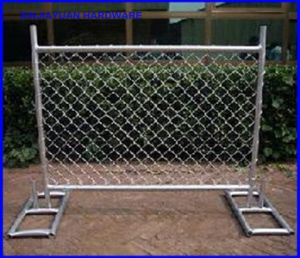 Chain Link Fence Panel Temporary Mobile Fence with Metal Feet America Market pictures & photos
