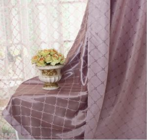 Suede Double-Faced Jacquard Cation Curtain (MM-123) pictures & photos