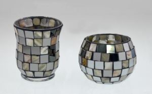 New Design Glass Mosaic Candle Holder for Chiristmas pictures & photos