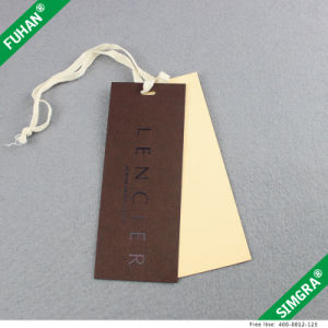Custom Beautiful Silver Press Textile Hang Tags pictures & photos