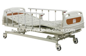 Three Crank Manual Hospital Bed (ALK06-A328P) pictures & photos