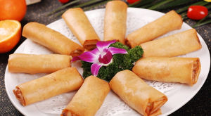 IQF Frozen 100% Hand Made Vegetable 20g/Piece Cylinderical Elongated Spring Rolls pictures & photos