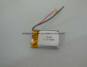 Polymer Lithium Battery 351624 3.7V 90mAh Compliance with Ce, RoHS, SGS, UL pictures & photos