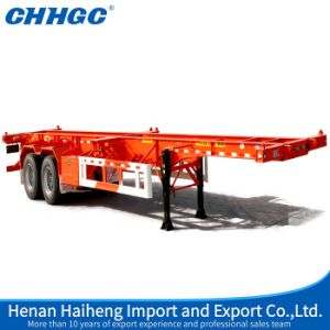 Hot Sales Overseas 2axle Skeleton Container Semi Trailer pictures & photos