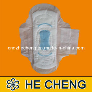 Blue-Printed Regular Disposable Sanitary Pad to India pictures & photos