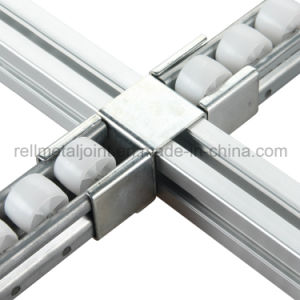 White Zinc Roller Track Connector for Pipe Racking System (R-4040H4) pictures & photos