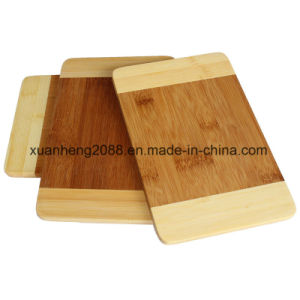 Double Side Use Vegetable Bamboo Cutting Board pictures & photos