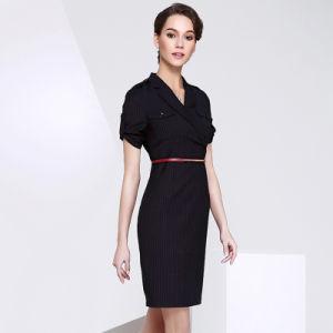 Short Sleeve Women Dress Slim Elegant Formal Office Lady Dress pictures & photos