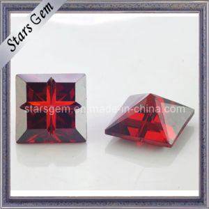 Square Shape Garnet Red Cross Special Cut Cubic Zirconia pictures & photos