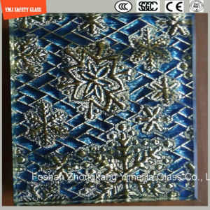 4-19mm Safety Construction Glass, Hot Melting Pattern Decorative Glass for Hotel & Home Door/Window/Shower/Partition/Fence with SGCC/Ce&CCC&ISO Certificate pictures & photos