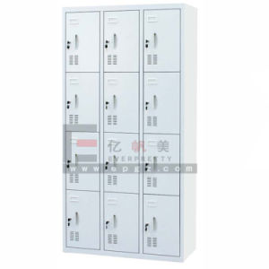 12 Doors Metal Storage Cabinet Locker with 4 Layers and 3 Bays pictures & photos