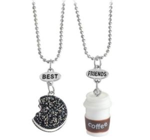 Children′s Accessories Trinket Coffee Cup Good Friends Necklace pictures & photos