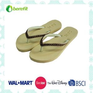 PE Sole and PVC Straps with Decoration, Slippers pictures & photos