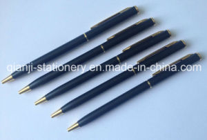 Black Metal Pen Twist Metal Ball Pen Metal Pen with Laser Logo (M1004) pictures & photos