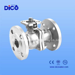 API CF8/CF8m 2PC Flange Ball Valve with Plate Form pictures & photos