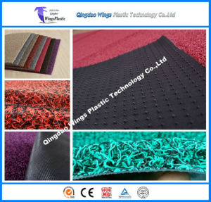 Double Colour Coil PVC Mat with Anti Slip Firm Backing pictures & photos