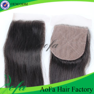 Free Part Top Lace Closure Virgin Hair Silk Base Closure pictures & photos