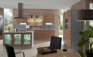 Customized Simple Style Melamine Kitchen Furniture