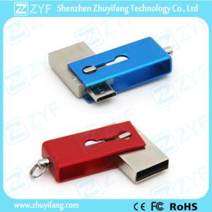 Innovative Design Slide Twist Metal 16GB OTG USB Drive (ZYF1606)