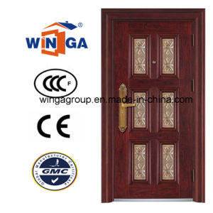 5star Building Good Quality Outsidethief-Guard Metal Security Steel Door (W-S-20) pictures & photos