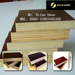 Brown Film Faced Plywood for Formwork in Linyi Manufacturer pictures & photos