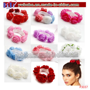 Hairband Headband Christening Elastic Flower Floral Hair Jewelry (P3035) pictures & photos