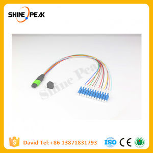 12core MPO/MTP to LC 0.9mm Ribbon Fanout Fiber Optic Cable pictures & photos