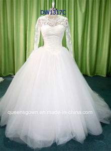 Factory Price Top Designer Long Sleeve Bridal Gown Wedding Dress pictures & photos