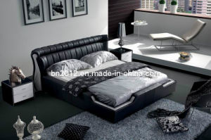 Modern Genuine Leather Bed (SBT-5837) pictures & photos