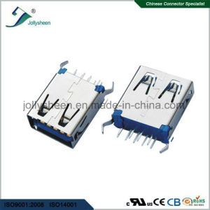 USB3.0 a/F Without Curling 180deg DIP Type pictures & photos
