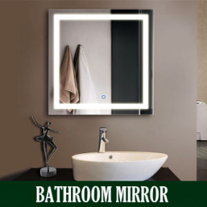 Hotel Illuminated Bathroom Mirror With LED Light Cabinet Lighted Vanity