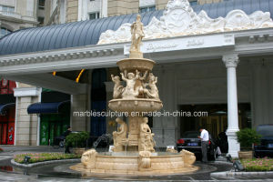 Egypt Cream Marble Stone Sculpture Fountain for Square Place (SY-201) pictures & photos