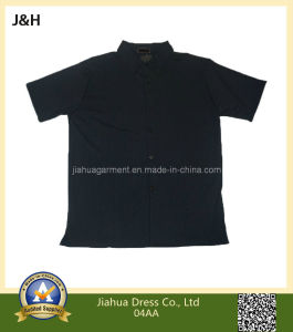 100% Polyester Knitted Fabric Polo Collar T Shirt for Men