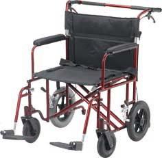 Aluminum Bariatric Heavy Duty Transport Chair