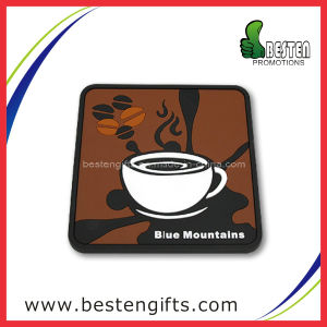 High Quality Custom Soft PVC Mug Coaster (PC0001)